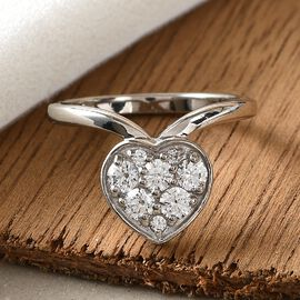 Swarovski Zirconia Main Stone With Surrounding Stone Ring in Platinum Overlay Sterling Silver 1.45 ct  1.100  Ct.