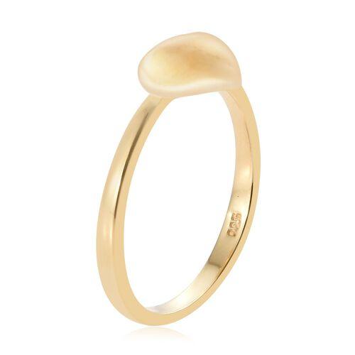 14K Gold Overlay Sterling Silver Mini Heart Promise Ring