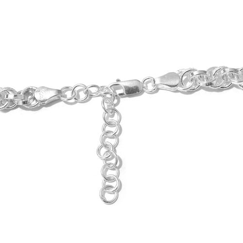 One Time Close Out Deal- Sterling Silver Prince Of Wales Chain Necklace (Size 18 and 2 inch Extender), Silver wt 42.80 Gms.