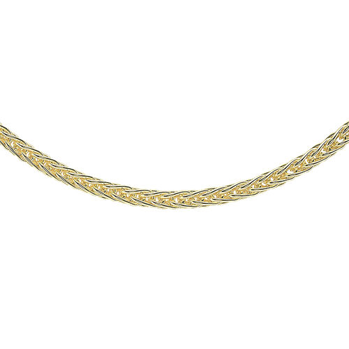 Mega Day Special Close Out Deal- 9K Y Gold Spiga Necklace  (Size 18) Gold Wt 6.30 Grams