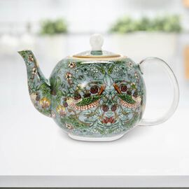 Lesser & Pavey - Willam Morris Strawberry Thief Teal Tea Pot