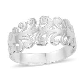 Sterling Silver Filigree Ring, Silver wt 3.71 Gms.