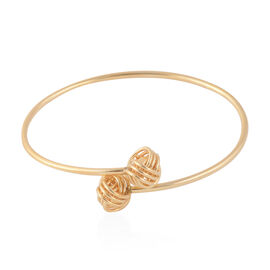 Knot Design Bangle in Gold Plated Silver 7 Grams