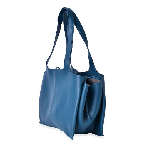 Turquoise Colour Tote Bag (Size 53x37x25x11 Cm)