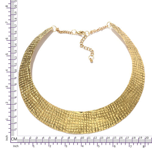 One Time Deal-Choker Necklace (Size 43+5 Cm) in Gold Plating
