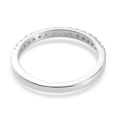RHAPSODY 950 Platinum Diamond Half Eternity Band Ring 0.25 Ct.