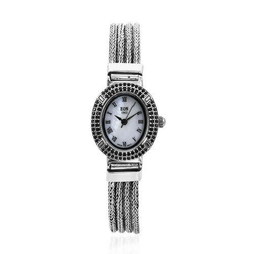 Royal Bali Collection - EON 1962 Swiss Movement Boi Ploi Black Spinel Studded Water Resistant Tulang