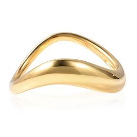LucyQ High finish Bangle in Gold Plated Sterling Silver 88.40 Grams 8 Inch