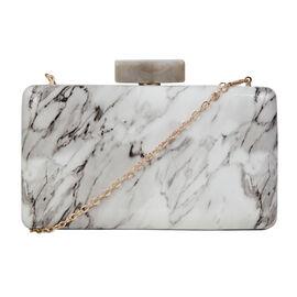 Bulaggi Collection - Xena Box Marble Clutch Bag in Bone White (Size 20x11x03 Cm)