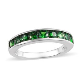 RHAPSODY 1 Carat AAAA Tsavorite Garnet Half Eternity Band Ring in 950 Platinum 5.20 Grams