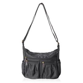 Annabelle Water Resistant Black Crossbody Bag with Adjustable Shoulder Strap (Size 28x24x10 Cm)