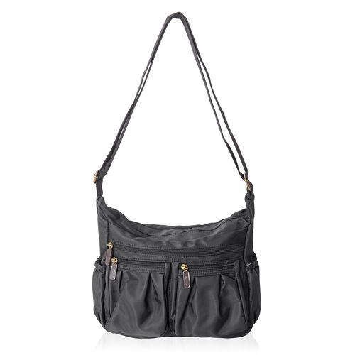 Annabelle Water Resistant Black Crossbody Bag with Adjustable Shoulder Strap (Size 28x24x10 Cm)