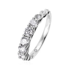 14K White Gold Leo Diamond (Rnd) (SI-I1/G-H) Ring 1.000 Ct.