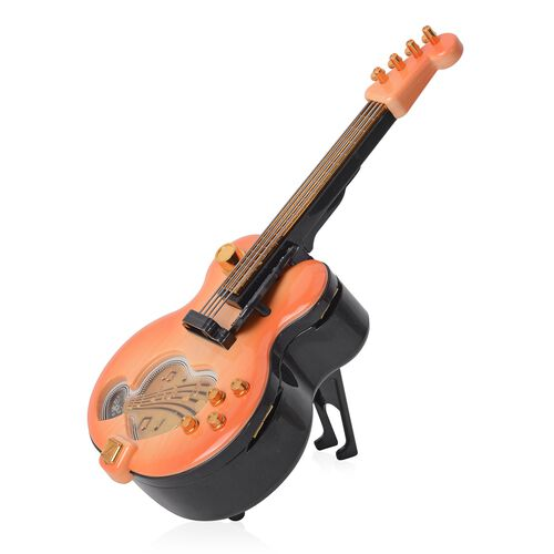 Guitar Music Box with Multi Colour  (Size 28x11.5x9 Cm)