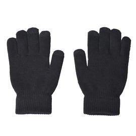 Unisex Triangle Thermal Touchscreen Gloves-Black