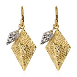 Isabella Liu Sea Rhyme Drop Earrings with Clasp in Rhodium and Gold Plated Silver