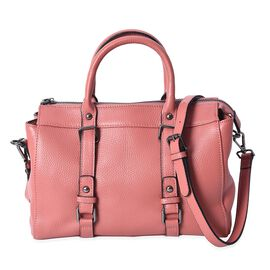 100% Genuine Leather Tote Bag (Size 29x13x21 Cm) - Pink