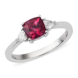 RHAPSODY 950 Platinum Rubelite and Diamond Ring 1.00 Ct, Platinum wt. 4.96 Gms