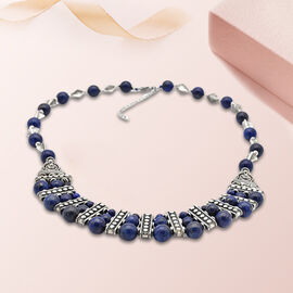 Lapis Lazuli Necklace (Size 20 with Extender) 101.20 Ct.