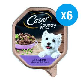 Cesar Country Kitchen Tray - Lamb and Peas (6 Pack)