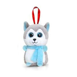 Keel Toys - Blue, White and Grey Colour Fox Toy (Size 10 Cm)