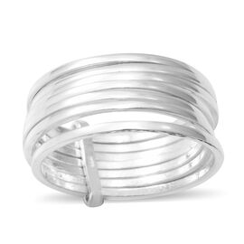 Sterling Silver Multi Spiral Ring, Silver Wt 5.70 Gms