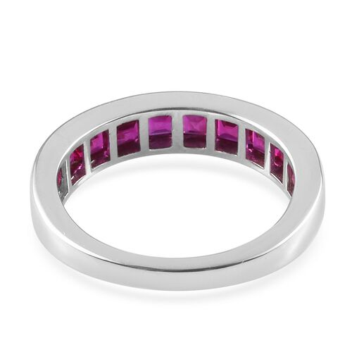 RHAPSODY 950 Platinum Princess Cut AAAA Burmese Ruby Ring 2.000 Ct., Platinum wt 5.30 Gms.