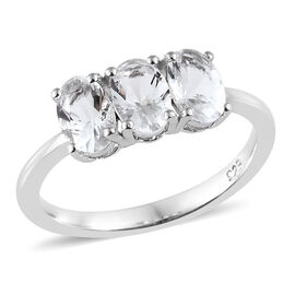 Petalite (Ovl) Ring in Platinum Overlay Sterling Silver 1.000 Ct.