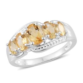Citrine (Ovl) Ring in Sterling Silver 2.000 Ct. Silver wt 3.11 Gms.