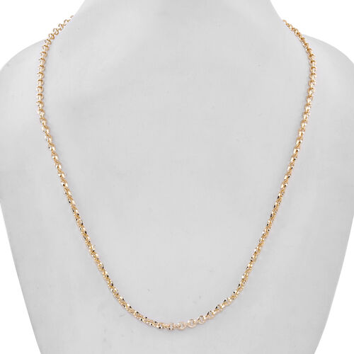 9K Yellow Gold Belcher Necklace (Size 20) with Lobster Lock, Gold wt 6.50 Gms