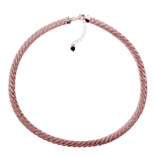 GP JCK Vegas Collection Rose Gold Overlay Sterling Silver Necklace (Size 18 with 2 inch Extender), Silver wt. 19.36 Gms.