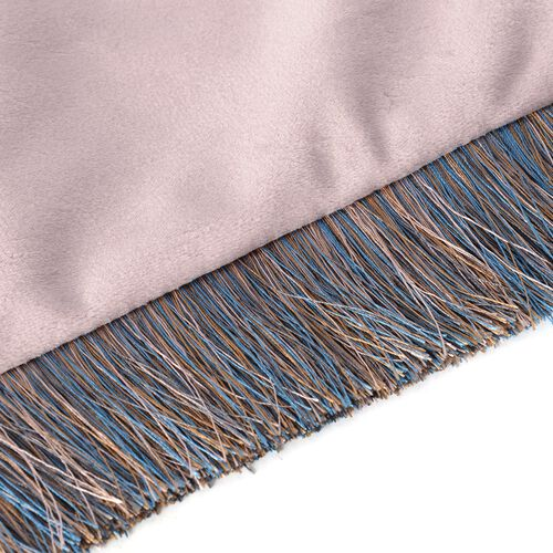 Luxury Edition - Set of 2 Extremely Soft Decorative Cushion Covers with Trimming in Dusty Rose Colour (Size 45x45 Cm)
