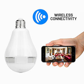 360 Degrees Panoramic HD Camera- Home Indoor Security Light Wifi Camera Bulb