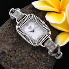 Royal Bali Collection - EON 1962 Swiss Movement Water Resistant Tulang Naga Bracelet Watch (Size 6.5 with Extender) in Sterling Silver, Silver wt 24.00 Gms