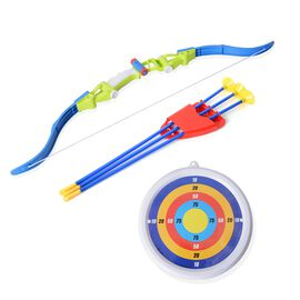 Archery Set with Bow (Size 65x15.5 Cm), Three Sucker Arrows with Frame (Size 48x19 Cm) and Target Bo