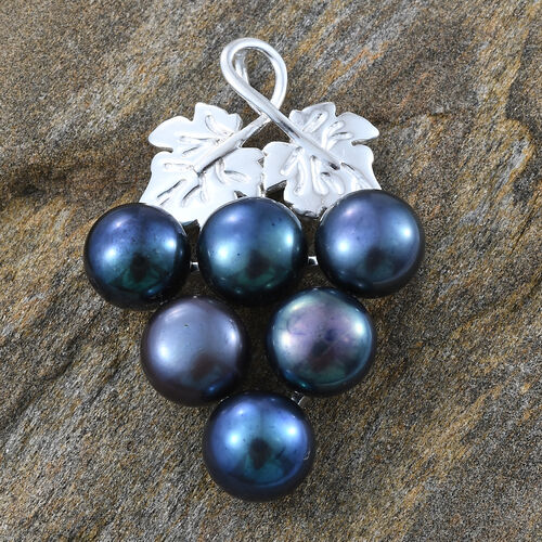 Freshwater Peacock Pearl Pendant in Sterling Silver