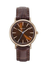 GANT Brown Dial Ladies Watch with Brown Leather Strap
