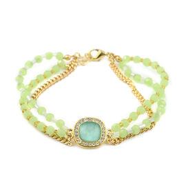Designer Close Out- Czech Crystal & Acrylic Bracelet