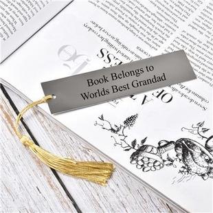 Personalised EngravableTassle Book Mark