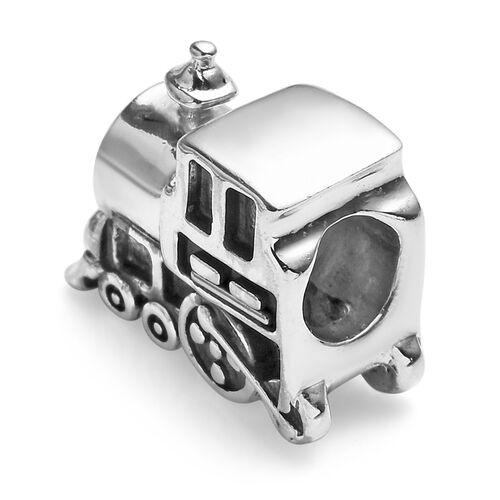 Charmes De Memoire Platinum Overlay Sterling Silver Train Charm, Silver wt 3.15 Gms