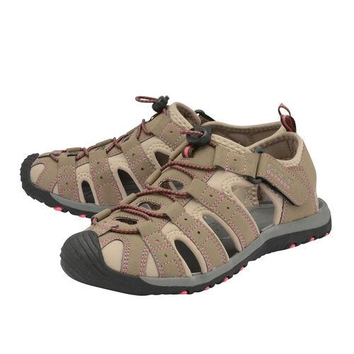Gola Shingle 3 Closed Toe Sandal (Size 7) - Taupe and Hot Pink
