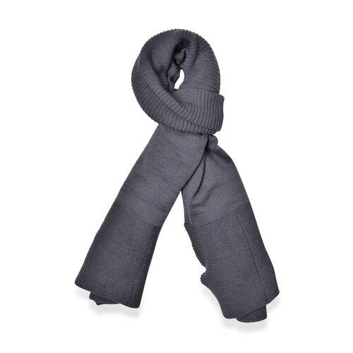 Grey Colour Pull Through Scarf (Size 150x60 Cm)