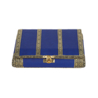Jewellery Storage Box with Scratch Protection Interior (19.5x12.7x5.08 cm) - Blue
