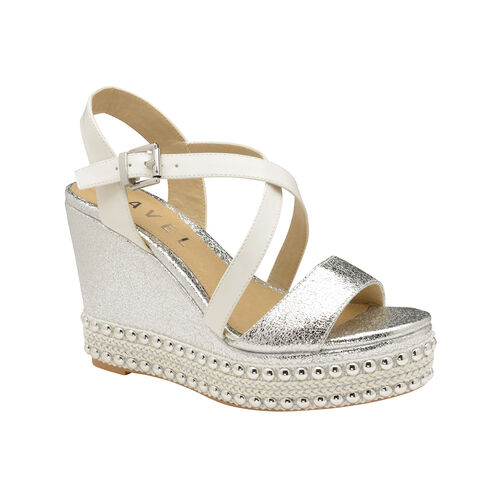 Ravel Yulee Wedge Open-Toe Sandals (Size 4) - Silver