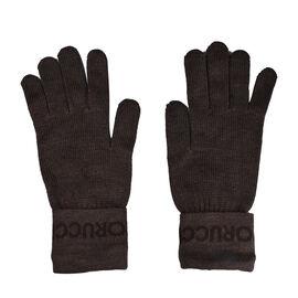 FIORUCCI Dark Brown Gloves (Size 27x12cm)