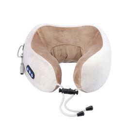 U-Shaped Neck Velvet and Memory Foam Massager (2x22.5x11cm) - Beige