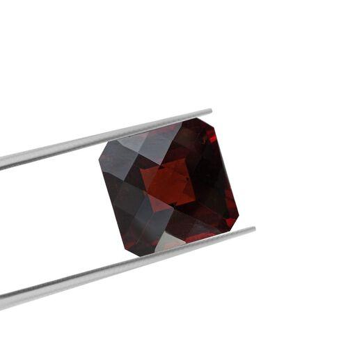 AAA Red Garnet Octagon 12x12 Checkerboard 9.30 Cts