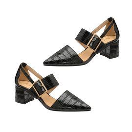 Ravel Black Croc-Print Mayfield Shoes