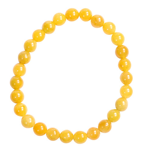 2 Piece Set -  Honey Jade Stretchable Bracelet (Size 7.5) and Stud Earrings (with Push Back) in Sterling Silver 128.00 Ct.