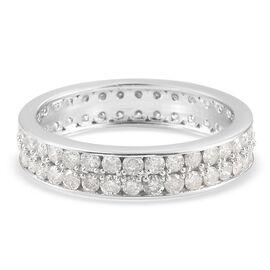 9K White Gold SGL Certified Diamond (I3/G-H) Ring 1.83 Ct.